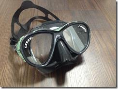 新マスクを試す。【Cressi Eyes Evo Dark】(色:グリーン)