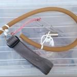 【ひばり結び】一本引き用ゴムの結び方