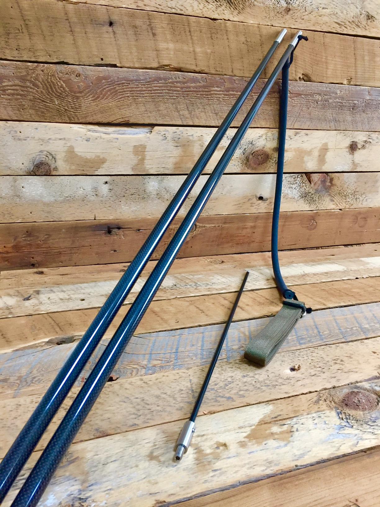 沖縄の漁師さんの要望で製作した「イーグン」極太18mmシャフト、M8先端金具、7mm焼き入りピアノ線一本銛先