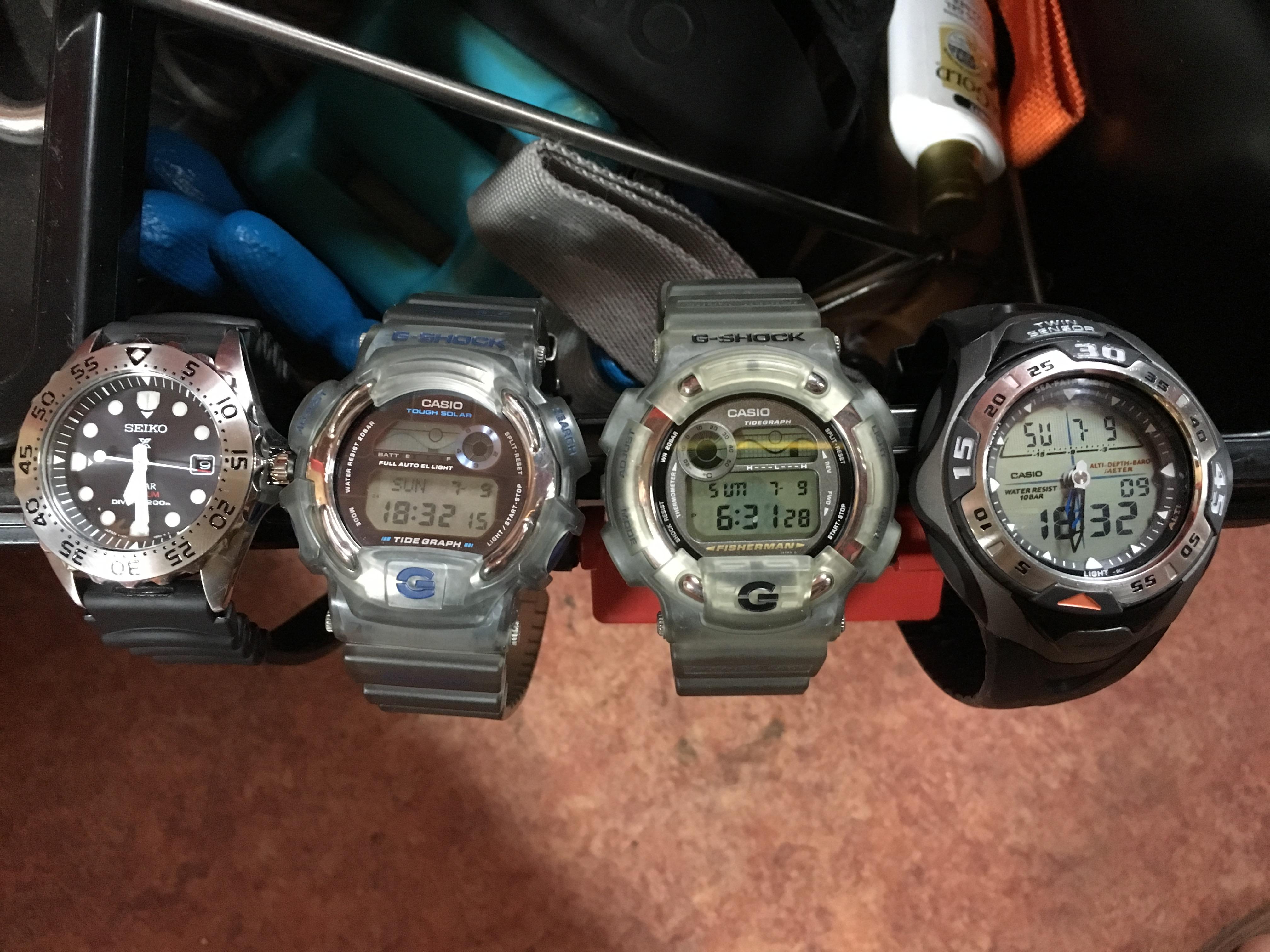 魚突きで使う時計について